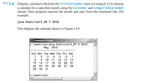 Solved Rewrite The Print Calendar Class In Listing 6 12 T