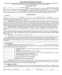 11 Real Estate Purchase Contract Examples Pdf Word