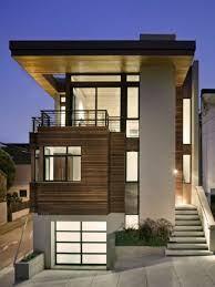 Home design, Wonderful Small Minimalis House In Sloping Area With Modern  Wooden Facade: New