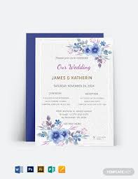 39 Free Wedding Invitation Templates Word Psd