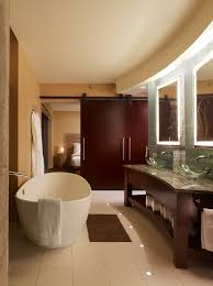 Spa Bathroom Suites Powder Room Oversized Soaking Tub Duel Glass Vanitys Spa