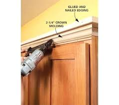 bar top trim how to add shelves above kitchen cabinets cabinet crown throughout molding idea 0