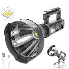 Đèn pin chiếu xa trên 500m W591 bóng XHP70 có độ sáng cao,có chân đế hỗ trợ  cố định hướng chiếu đèn giá cạnh tranh