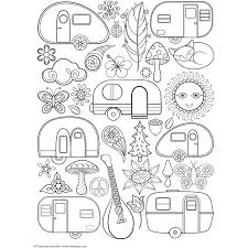 Coloring Pages S Camping Rv Camper Yoloerco