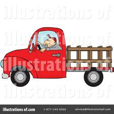 Pickup Truck Clipart #1443265 - Illustration by djart