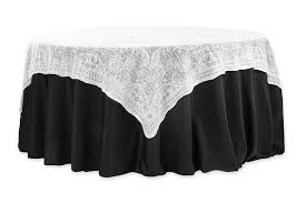 72 square quaker lace table overlay topper white