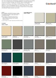 Colorbond Colour Chart View The Colours Sandhurst Roofing