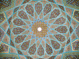 complex mosaic patterns also known as girih are popular forms of architectural art in many muslim cultures tomb of hafez shiraz iran