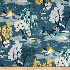 Dwell Studio Modern Toile Peacock - Discount Designer Fabric - Fabric.com