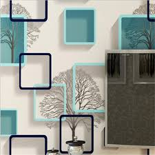 <b>beibehang 3D</b> cubical gingham <b>wallpaper Abstract</b> black white blue ...