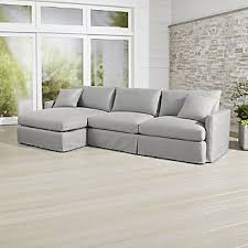 lounge ii petite outdoor slipcovered 2piece left arm chaise sectional outdoor sectional a96 outdoor