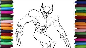 Small Picture How to Color X Men Wolverine Learning Coloring Pages for