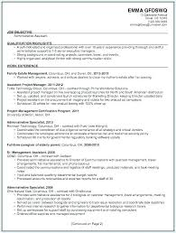 Career Objectives On A Resume Administrative Resume Objectives