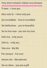 Italian Word For My Love