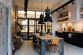 industrial style kitchen lighting. view in gallery simple and spacious industrial kitchen design with black pendants that stand out visually industrialstyle lighting style l