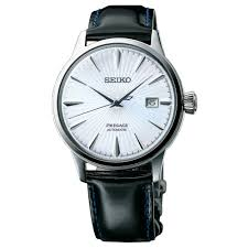 men s black leather presage automatic cocktail watch srpb43j1 watches from hillier jewellers uk