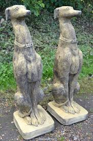 pair of whippet dog statues seamus