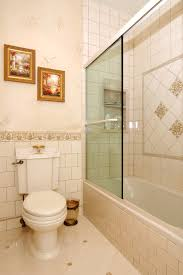 tile floor brick pattern spaces traditional with design glass