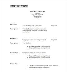 Free Blank Resume Templates Download Impressive Free Blank Resume Templates Download Site About Template