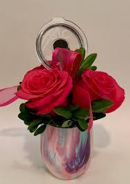 rose stemless wine gl