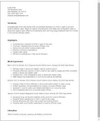 Resume Templates: Child Case Worker