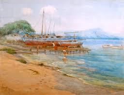 Grace Myrtle (Allison) Griffith, (1885-1955), Fisherman and Boats, Ala Wai  Harbor, Oahu, Hawaii, dated, 1920 | Early California, Hawaiian and American  Art | American Eagle Fine Art - Ray Castello|Early California, Hawaiian