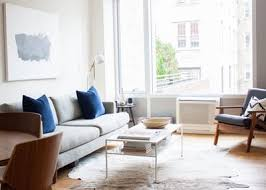 brilliant small living room furniture. Tour: A NYC Couple\u0027s Minimalist Retreat From Hectic City Life Brilliant Small Living Room Furniture U