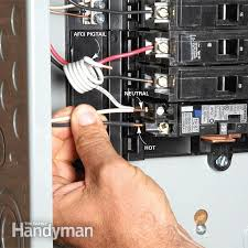breaker box safety how to connect a new circuit the family handyman strip and clamp