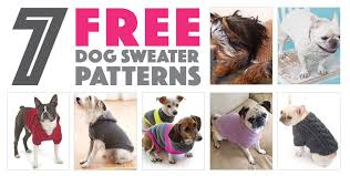 Free Knitted Dog Sweater Patterns Cool Seven Free Dog Sweater Patterns The Broke Dog