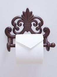 Bathroom Paper New Mother's Day Gift] Fleur De Lis Cast Iron Toilet Paper R