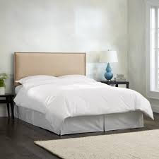 Burling Nail Button Queen Headboard in Micro-Suede Oatmeal- Skyline  Furniture - Free Shipping Today - Overstock.com - 13673311