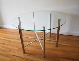 mid century modern round side end tables picked vintage mid century modern round glass coffee table