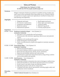 Resume For Automotive Resume Resume Objective Examples For