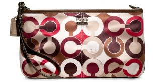 Lyst - Coach Madison Graphic Op Art Large Wristlet