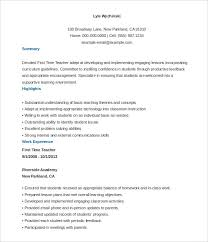 Resume Template For Teacher Gorgeous Free Teaching Resume Templates Filename Metal Spot Price