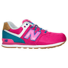new balance girls. new balance 574 expedition girls casual shoes grade school pink/turquoise/navy (778707xako