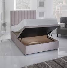 Ottomans For Bedroom Giltedge Beds Half Opening 4ft 6 Double Ottoman Base Velvet