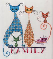 Cat Cross Stitch Patterns Best MarNic Designs Cat Family Cross Stitch Pattern 48Stitch