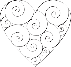 Small Picture Hearts And Swirls Coloring Pages Coloring Coloring Pages