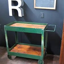 rolling carts for office. Rolling Industrial Pushcart With Reclaimed Wood Tops Carts For Office