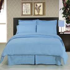 solid blue 8 piece bedding set super soft microfiber sheets duvet alternative