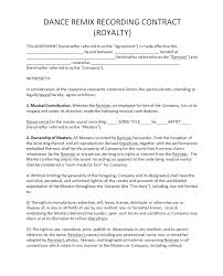 Collective Bargaining Agreement Template Simple Royalty Agreement Template Siebeltraining