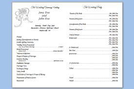 program template for wedding free downloadable wedding program template that can be printed