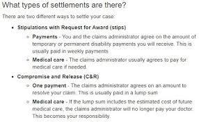 Workers Comp Settlement Chart Ct Workers Compensation Settlements In California Types Of
