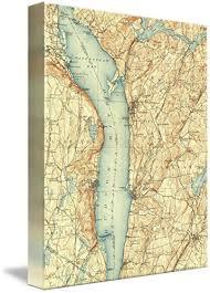 Amazon Com Imagekind Wall Art Print Entitled Vintage Map Of