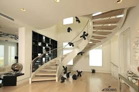 curved glass stair railing modern curved staircase glass railing design ideas