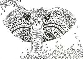 Small Picture Floral elephant Coloring Pages for Adults Zentangled Elephant