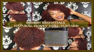 Design Essentials Natural Honey Curlforming Custard Demo Review Wash N Go Design Essentials Honey Curl Forming Custard