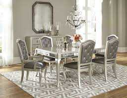 diva dining room set in platinum bling by samuel lawrence furniture home gallery s you