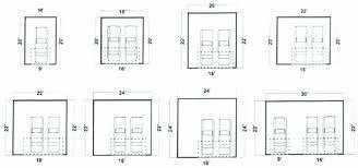 standard garage width two car door pertaining size of 3 australia sgering